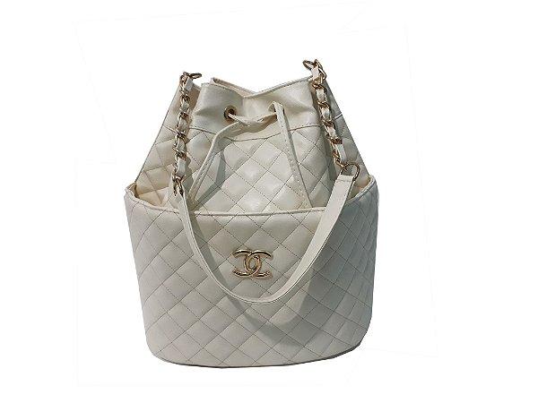 Bolsa chanel saco  branca