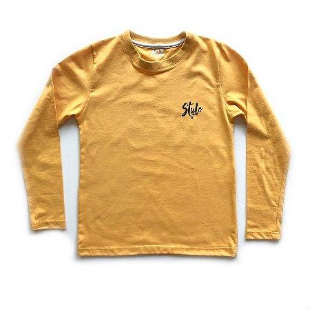 Camiseta Style Skate - mostarda
