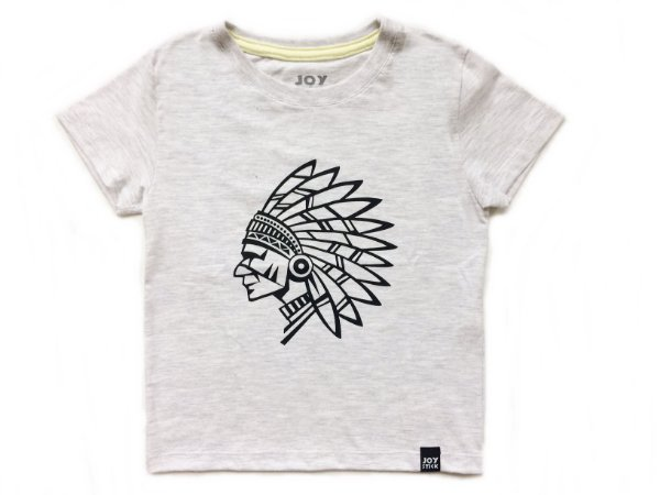Camiseta Indio - branco mescla