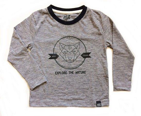 Camiseta Fox - cinza mescla