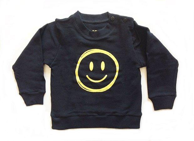 Moletom smiles preto - Baby