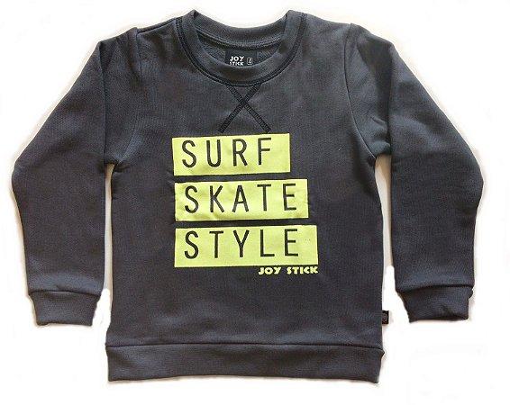 Moletom Surf Skate Style - chumbo