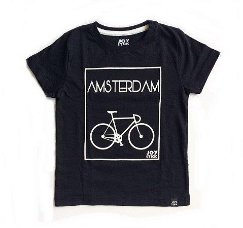 Camiseta Amsterdam preta