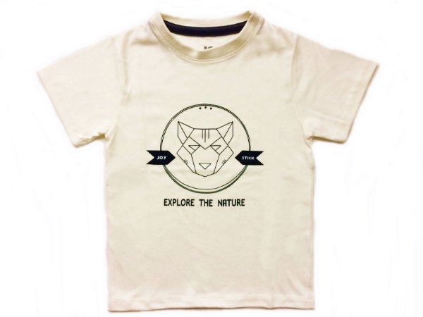 Camiseta Fox -  Off white