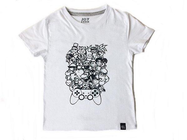 Camiseta personagens - branca