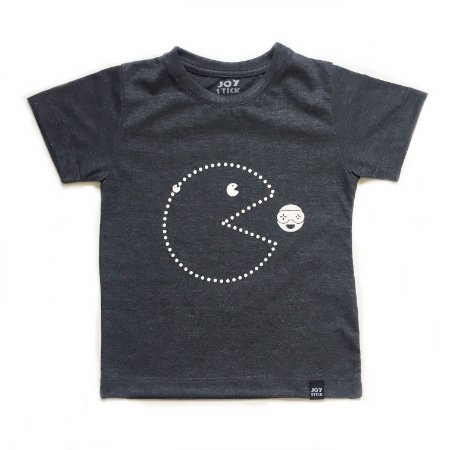 Camiseta pac man  joy - cinza chumbo