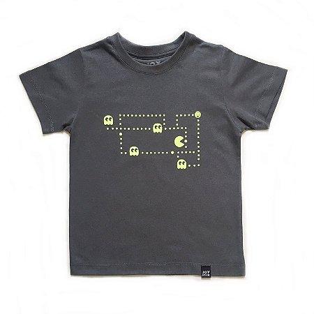 Camiseta Pac man ghost - cinza chumbo