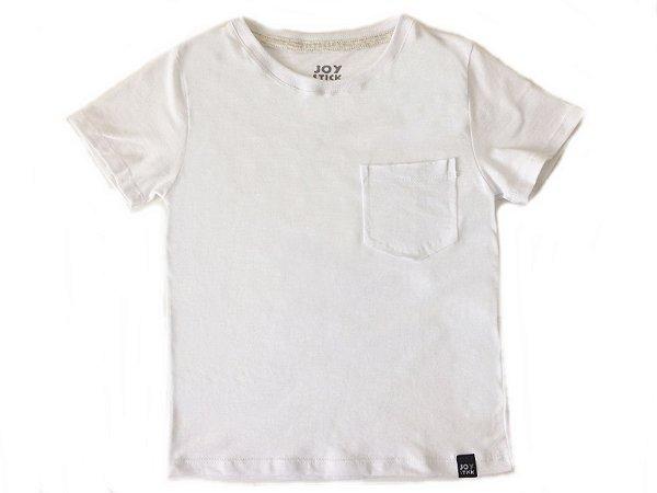 Camiseta lisa branca com bolso