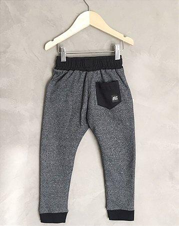 Calça duo color - cinza