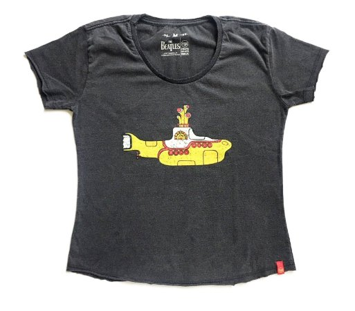 Camiseta Yellow Submarine - Feminina (adulto)