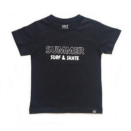 Camiseta Summer Surf & Skate - preta