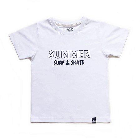 Camiseta Summer Surf & Skate - branca
