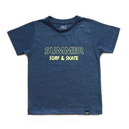 Camiseta Summer Surf & Skate - azul