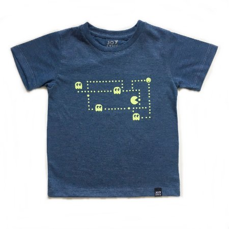 Camiseta Pac man ghost - azul