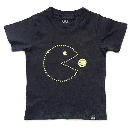 Camiseta pac man  joy - preta