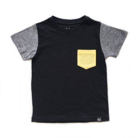 Camiseta lisa bolso yellow