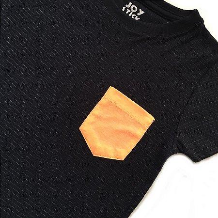 Camiseta Listras bolso laranja