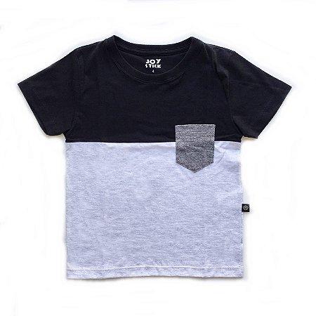 Camiseta Duo color -  manga curta