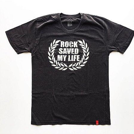 Camiseta Rock Saved my life - Masculina (adulto)