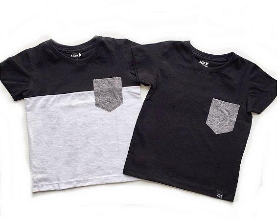 Kit Camisetas com bolso - duo color