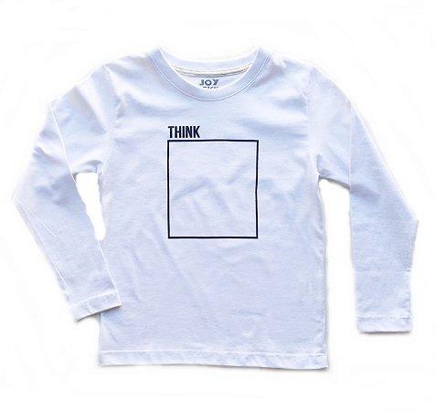 Camiseta manga longa Think
