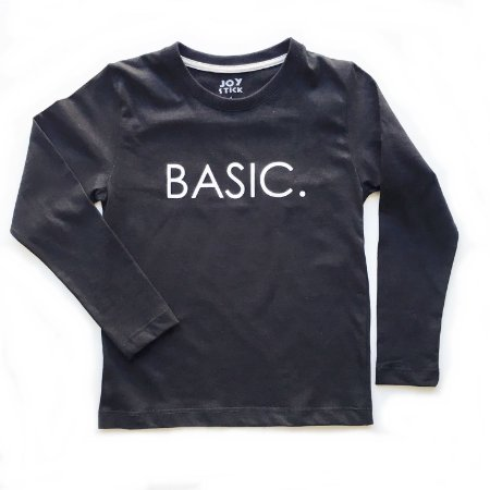 Camiseta manga longa Basic - preta