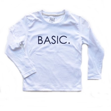 Camiseta manga longa Basic - branca