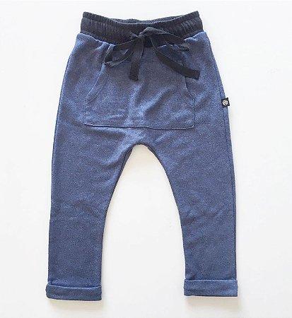 Calça lisa azul  - baby