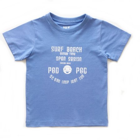 Camiseta surf beach - azul