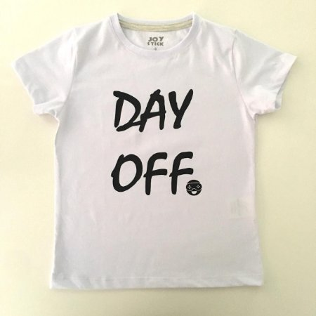 Camiseta Day Off - branca