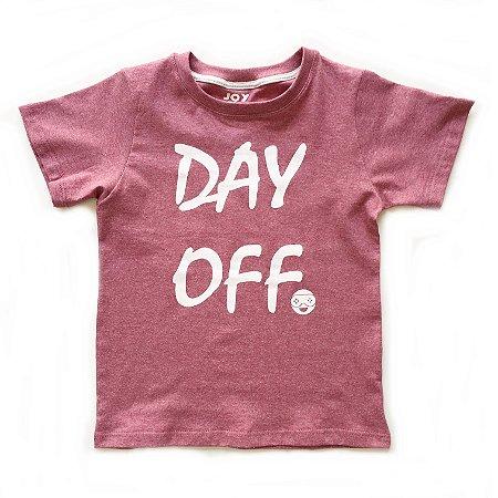 Camiseta Day off - goiaba
