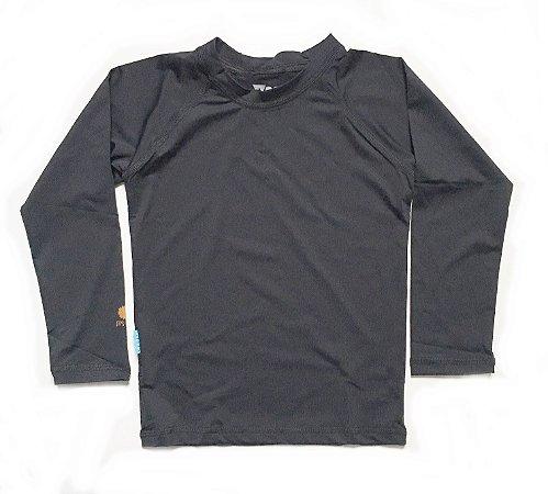Camiseta com fator de proteção UV 50+  preta
