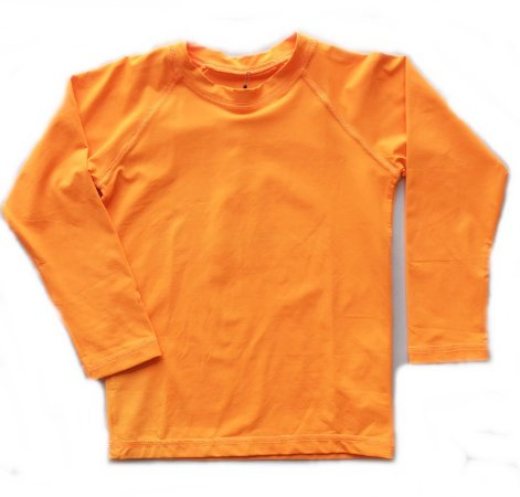 Camiseta com fator de proteção UV 50+  laranja neon