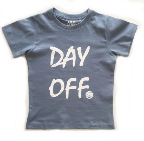 Camiseta Day Off -  azul retrô