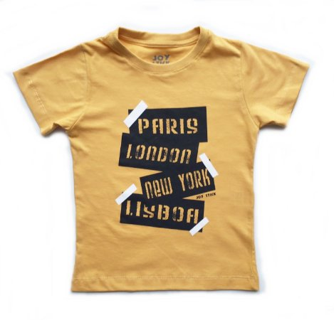 Camiseta trip - mostarda