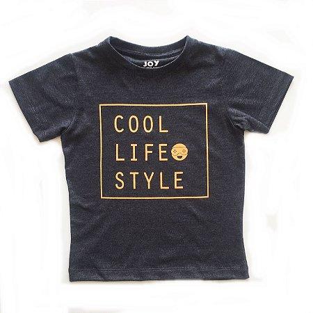 Camiseta Cool life style - chumbo