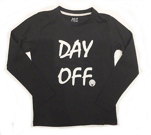 Camiseta manga longa Day off - preta