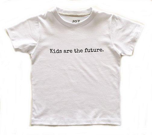 Camiseta Kids are the future - branca