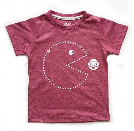 Camiseta Pac man -goiaba