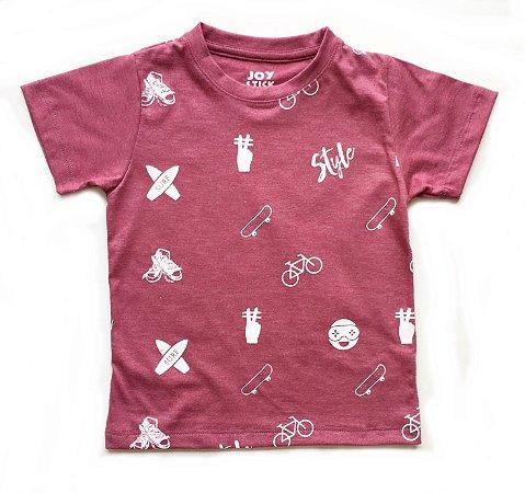 Camiseta JoyStyle - goiaba