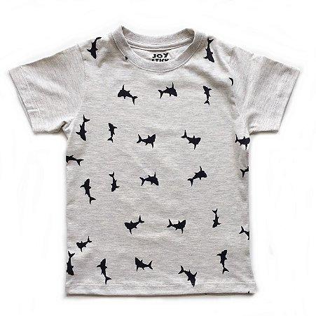 Camiseta Tubarão - off mesclado