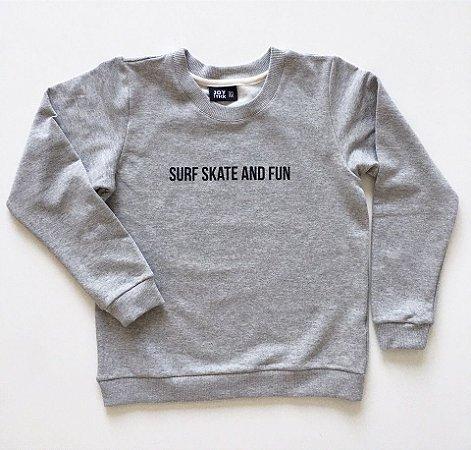 Blusão Surf skate - cinza - Moletinho leve e quentinho (felpado)
