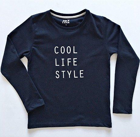 Camiseta manga longa - Cool life style - preta