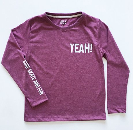 Camiseta Yeah - marsala