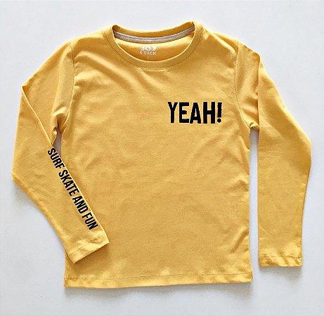 Camiseta Yeah - mostarda