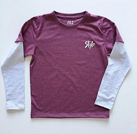 Camiseta Style - marsala