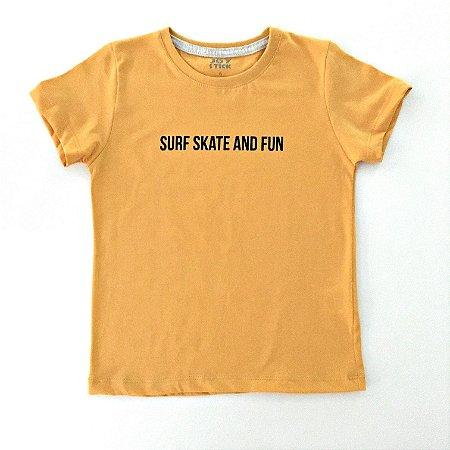 Camiseta Surf Skate mostarda