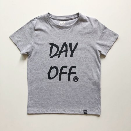 Camiseta Day Off - cinza mescla