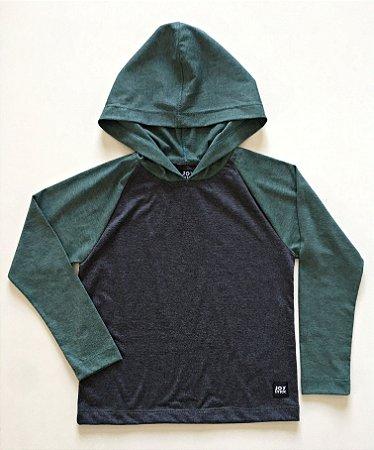 Camiseta Capuz - verde