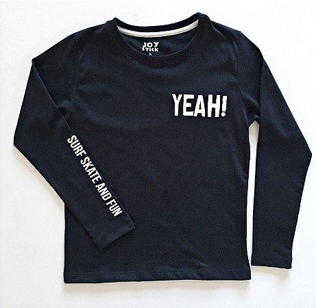 Camiseta Yeah - preta